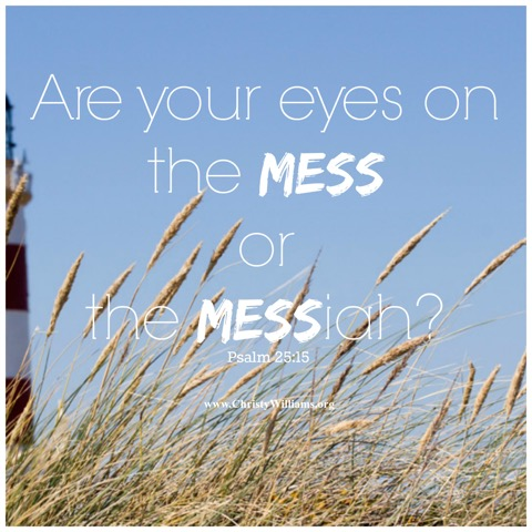 Are Your Eyes on the Mess or the Messiah